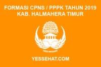 Formasi CPNS / PPPK / P3K Kabupaten Halmahera Timur 2019