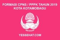 Formasi CPNS / PPPK / P3K Kota Kotamobagu 2019