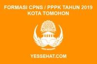Formasi CPNS / PPPK / P3K Kota Tomohon 2019