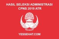 Hasil Seleksi Administrasi CPNS ATR Tahun 2019