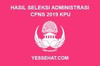 Hasil Seleksi Administrasi CPNS KPU Tahun 2019