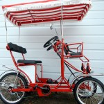 4 Wheel Pedal Quadricycle Surrey Bikes- Two Seater Surrey Bike