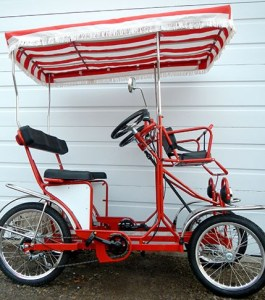 4 Wheel Pedal Quadricycle Surrey Bikes- Two Seater Surrey Bike