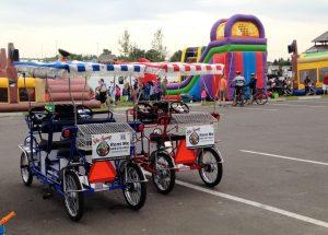 Surrey Quadricycle at a festival