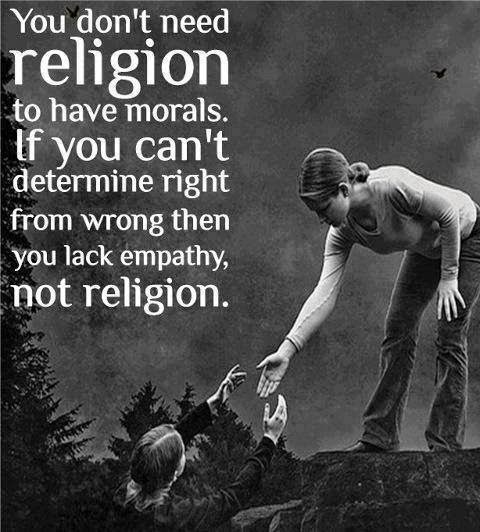 Do we need to link morality to religion?