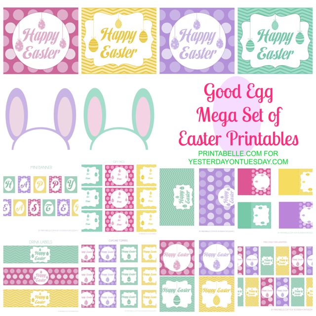Free set of Easter printables
