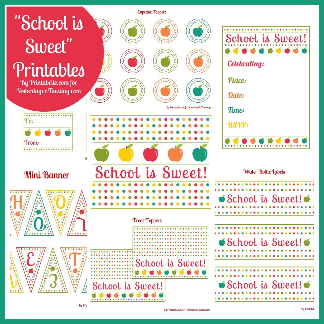 Free Printables School Is Sweet