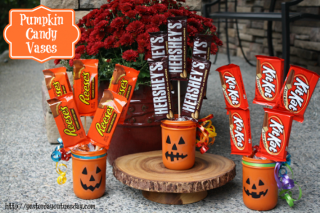 Pumpkin Candy Vases