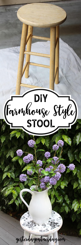 DIY Farmhouse Stool Yesterday On Tuesday