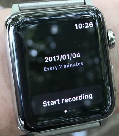 今回はApple Watchから記録開始。