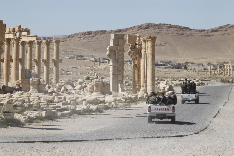 Russia stages over 60 strikes on Syria's Palmyra