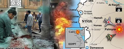 ISIS bombs Cairo, retakes Palmyra in fresh impetus