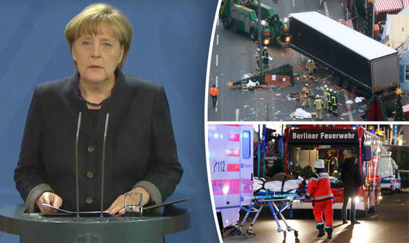 BERLIN MARKET TERROR: Merkel says it will be 'repugnant' if asylum seeker attacked Germany