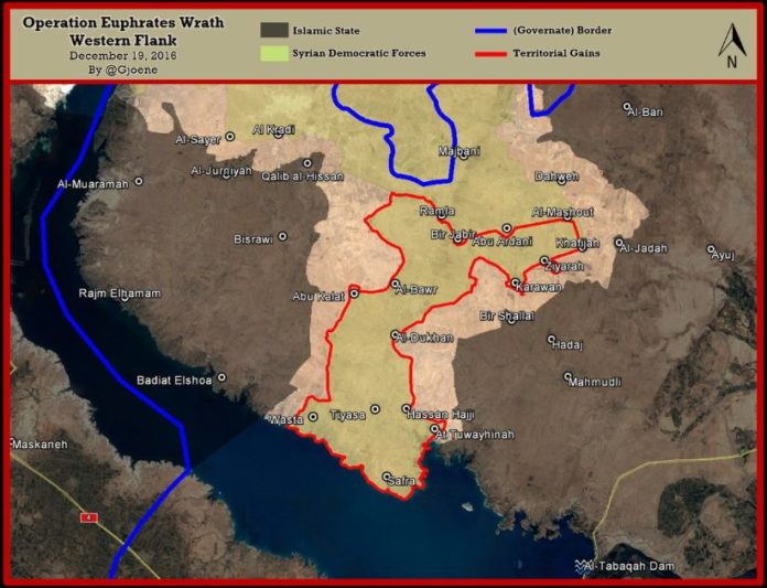 Syrian Democratic Forces reach Euphrates, besiege ISIS-held area