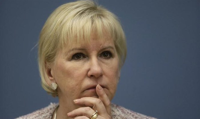 Report: Israel boycotting Swedish Foreign Minister