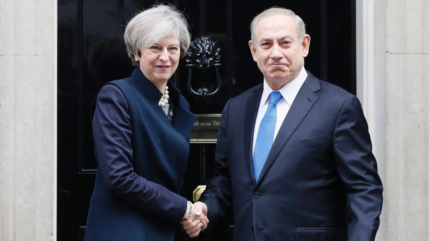 Theresa May to Netanyahu: Britain Is Committed to a Two-state Solution