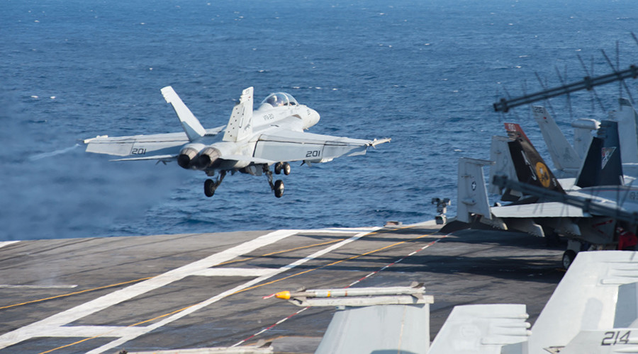 US carrier group conducts anti-ISIS strikes in Syria & Iraq from Mediterranean
