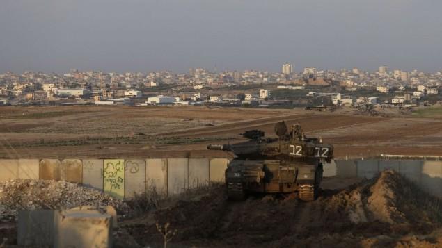 Gaza gunfire hits IDF vehicle, prompting tank shelling