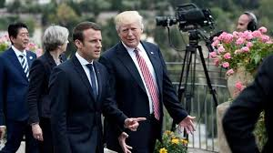 Macron agrees to work with Trump against a new Assad chemical attack