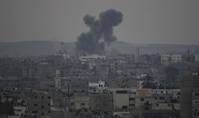 IAF attacks in Gaza following rocket attack