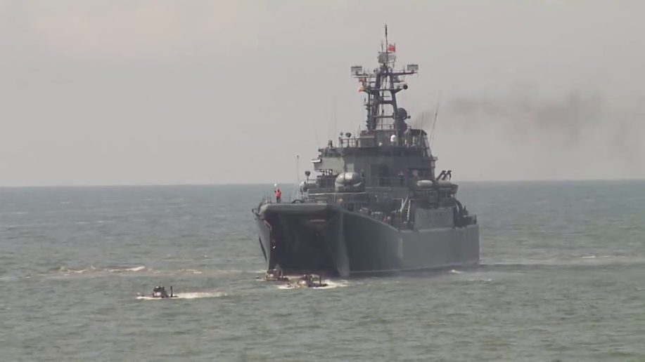 Russian warship enters the Mediterranean