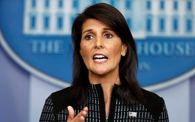 Haley condemns UN official who urged economic sanctions against Israel