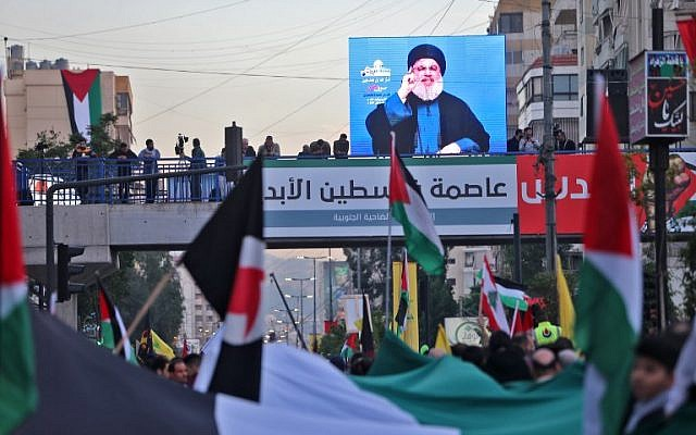 Hezbollah chief says Trump Jerusalem move 'beginning of end' for Israel