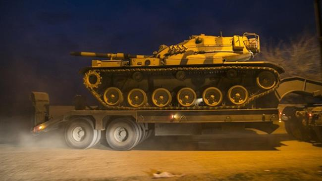 Turkey deploys tanks to border after Erdogan vows to defeat Kurds