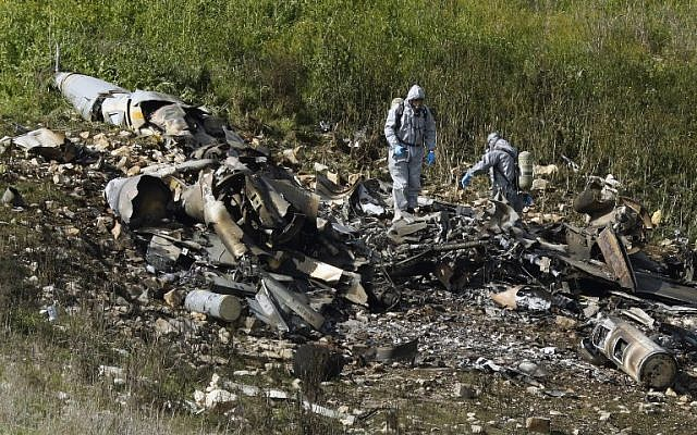 IDF: F-16 appears to have been downed by shrapnel