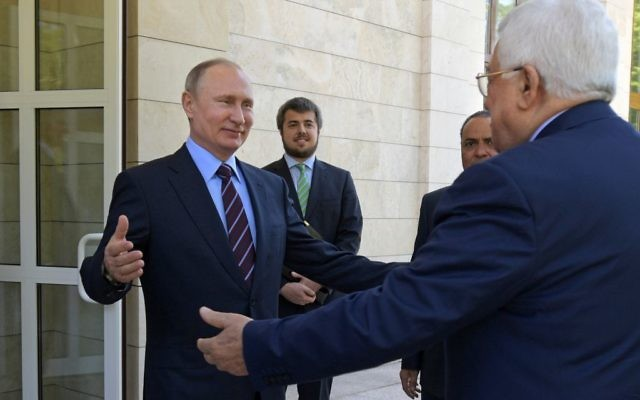 Palestinians court Russia as new broker in peace process