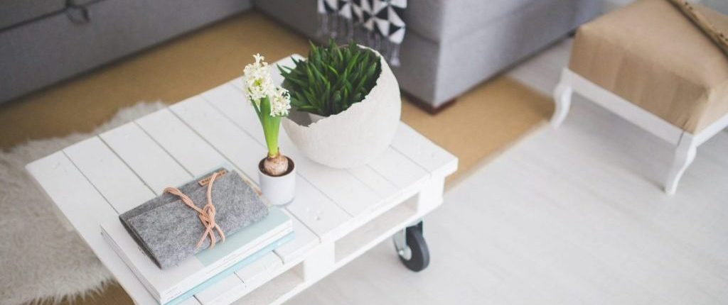 Modern Farmhouse coffee table from Yesterday's Tree Furniture in Asheville, NC