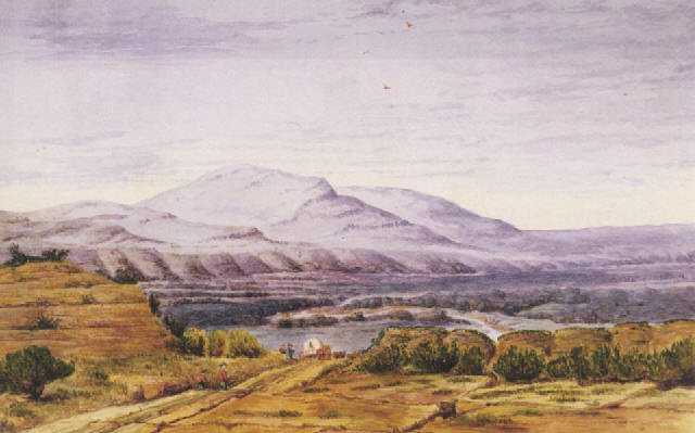 Humbolt River 1849 (painting by Thomas Evershed; http://images.artnet.com)