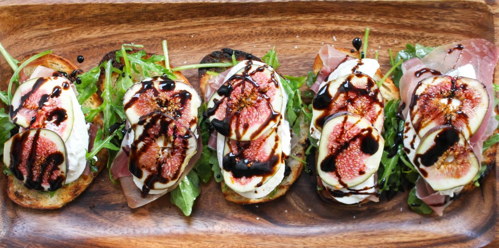 Grilled Crostini with Burrata, Figs, & Prosciutto   Yes to Yolks