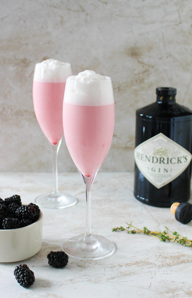 Blackberry-Thyme Gin Fizz | Yes to Yolks