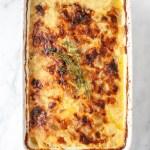 Roasted Garlic & Gouda Potato Gratin | yestoyolks.com