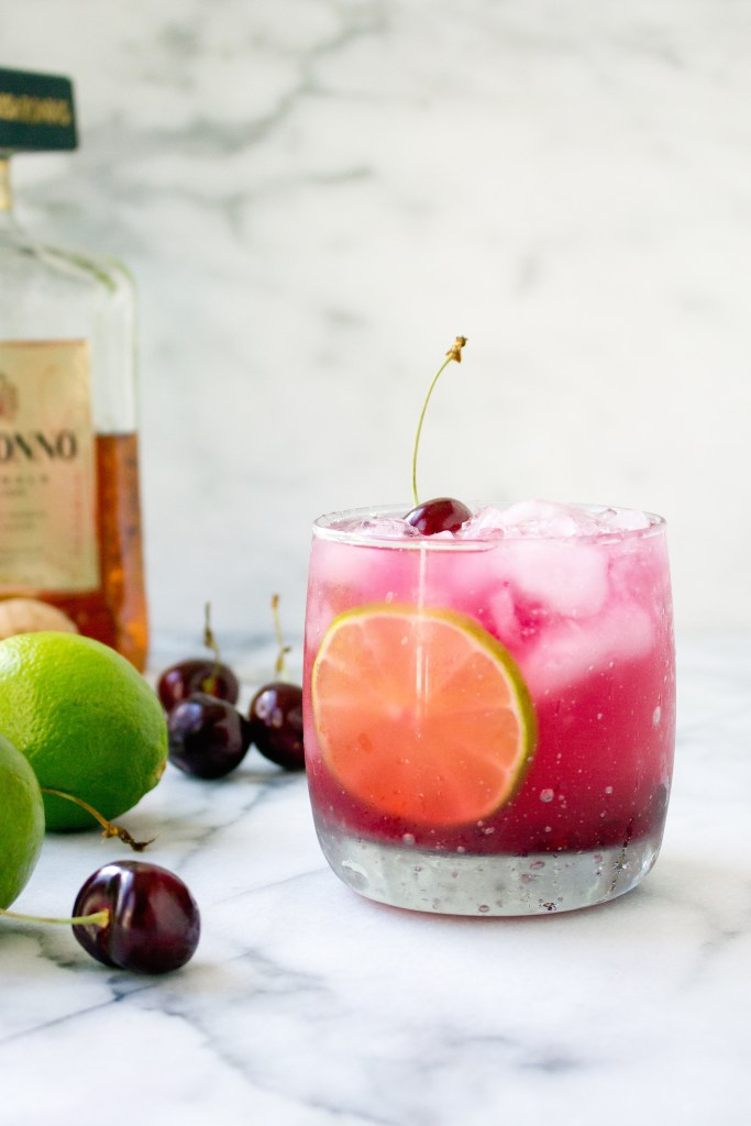 Fresh Cherry Amaretto Margaritas | yestoyolks.com