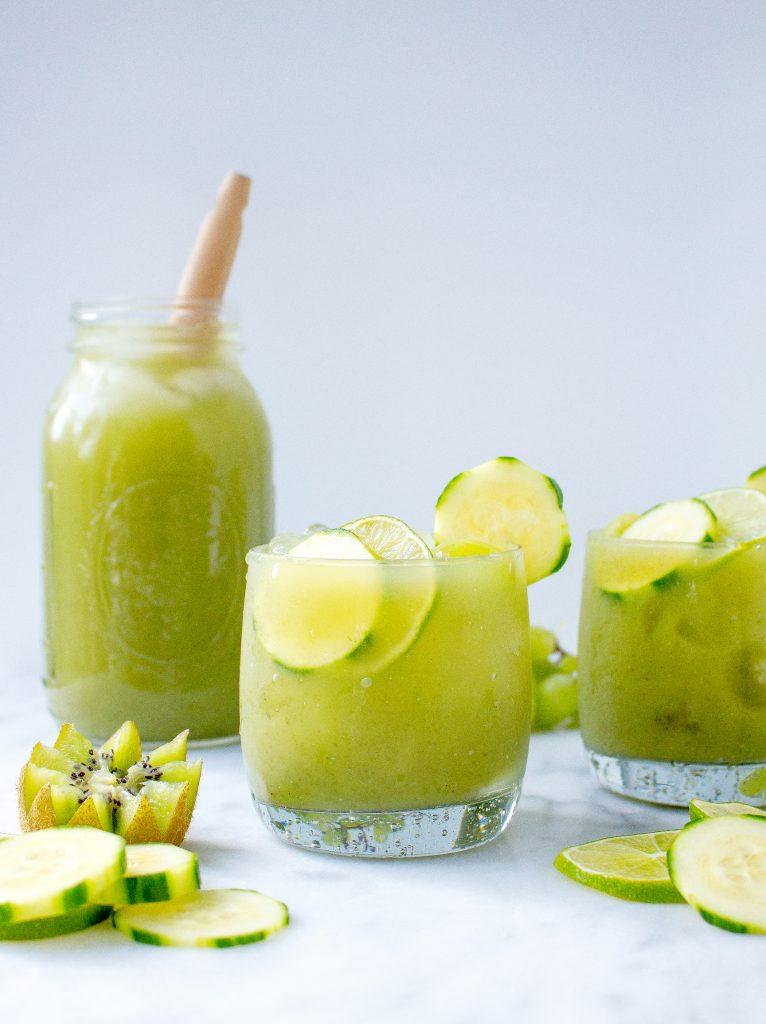 Cucumber-Mint Fruit Cooler