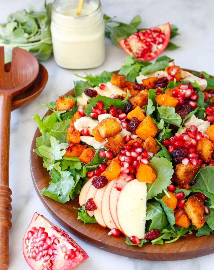 Autumn Harvest Salad with Creamy Parmesan-Sage Dressing