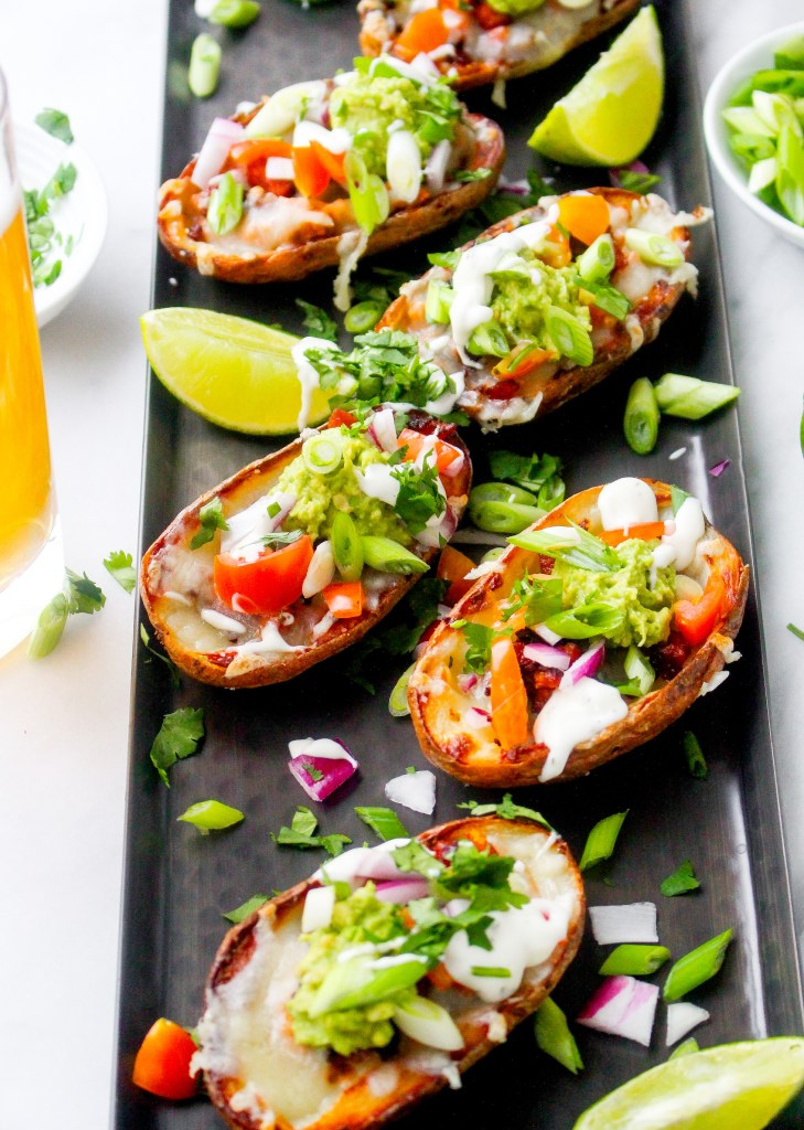 Chorizo & Avocado Nacho Potato Skins