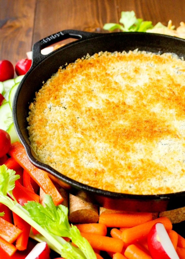 Cheesy Kale & White Bean Dip