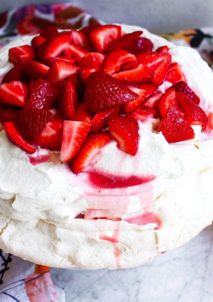 Strawberries & Rosé Pavlova