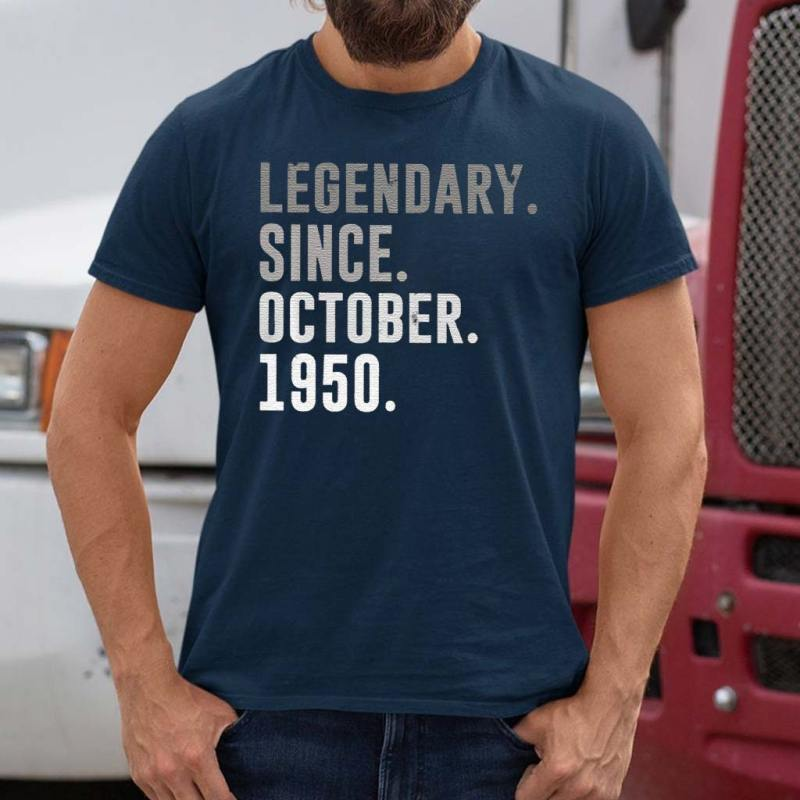 70th-Birthday-Legendary-Since-October-1950-Classic-T-Shirts