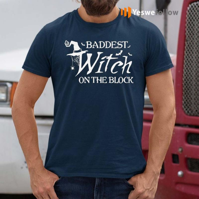 Baddest-Witch-On-The-Block-Halloween-T-Shirts