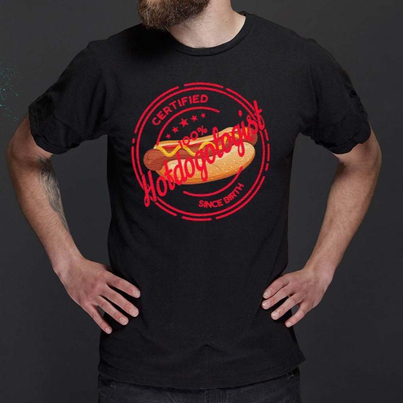 Certified-Hotdogologist-Since-Birth-T-Shirt