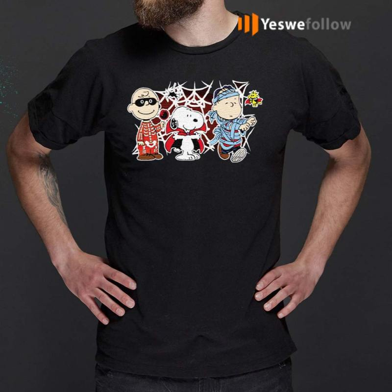 Charlie-Woodstock-Linus-Snoopy-Halloween-Night-Costumes-T-Shirts