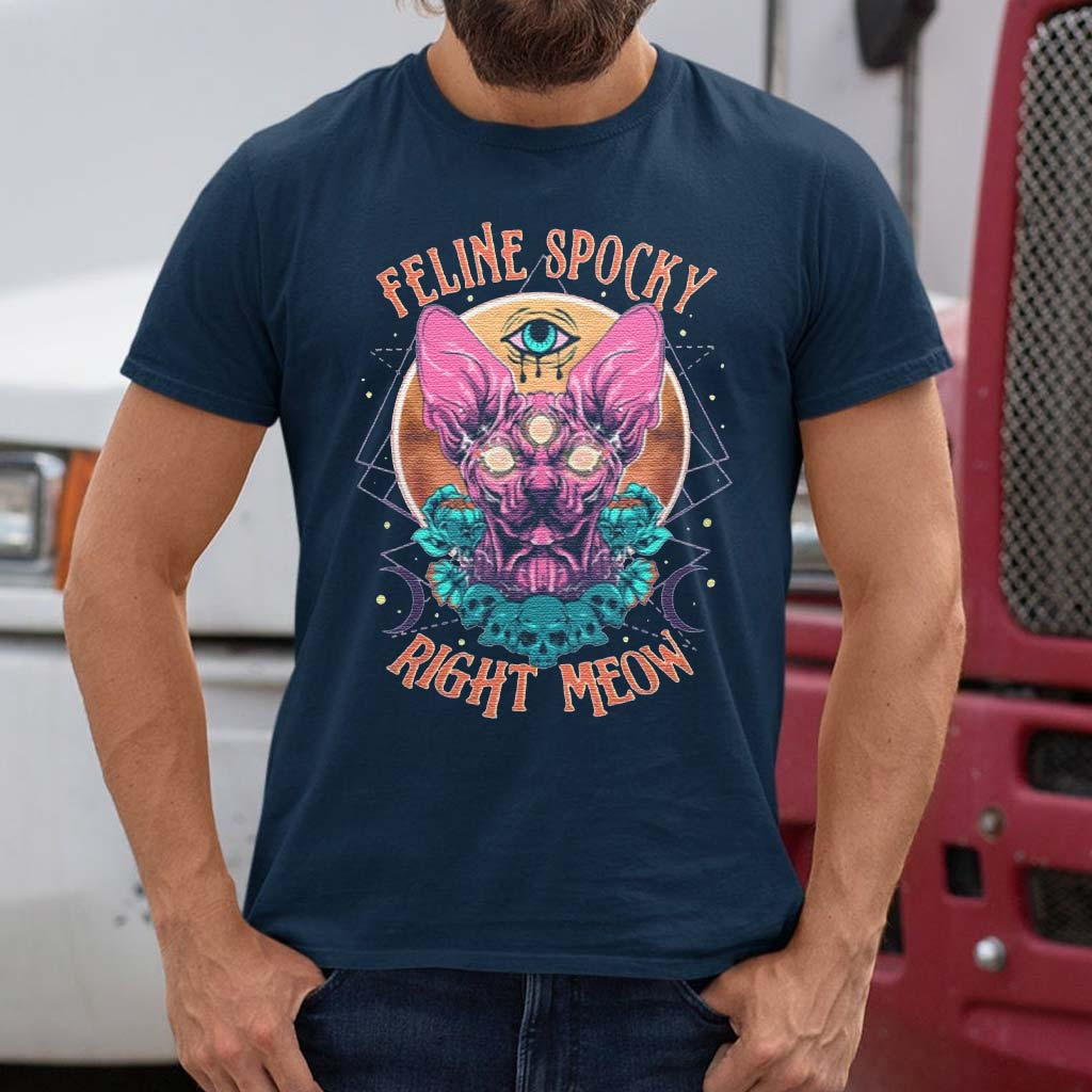 Feline-Spooky-Right-Meow-T-Shirts