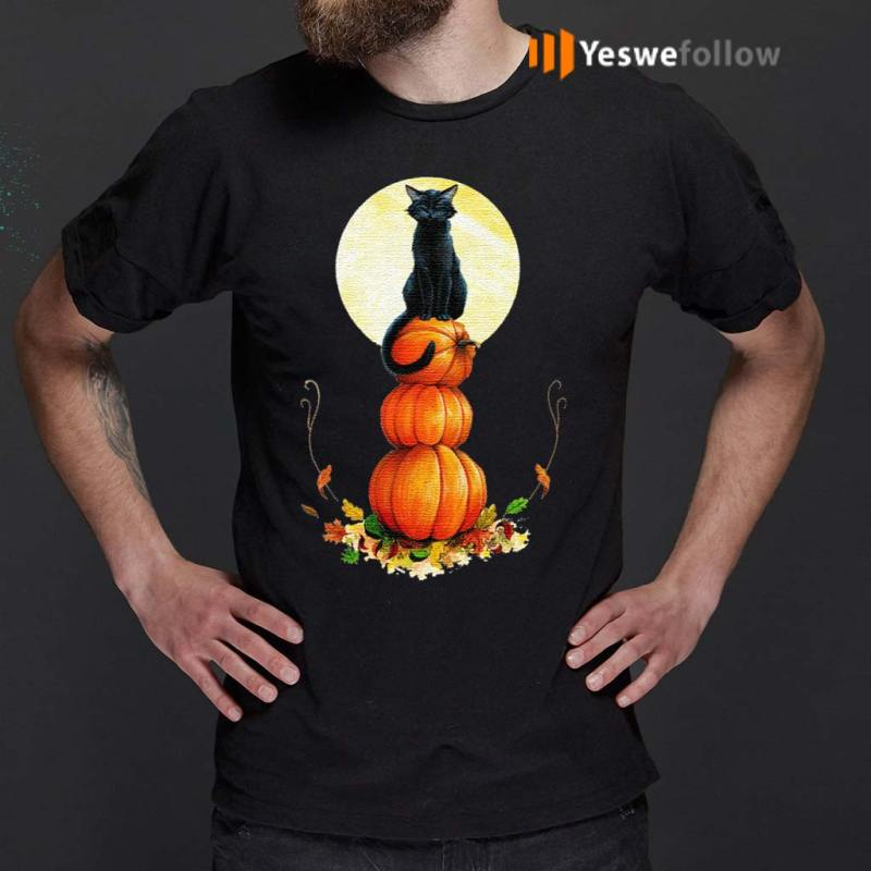 Full-Moon-Halloween-Pumpkin-Cat-T-Shirt