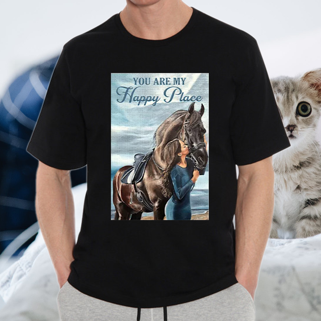 Horse You Are My Happy Place Vertical Poster Shirts