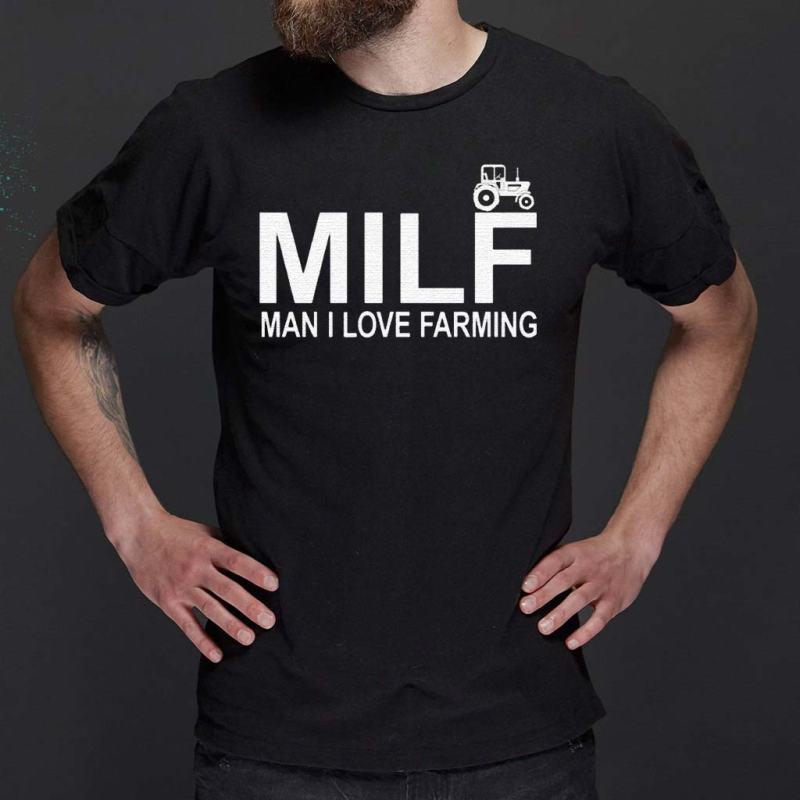 Milf-Man-I-Love-Farming-Premium-T-Shirts