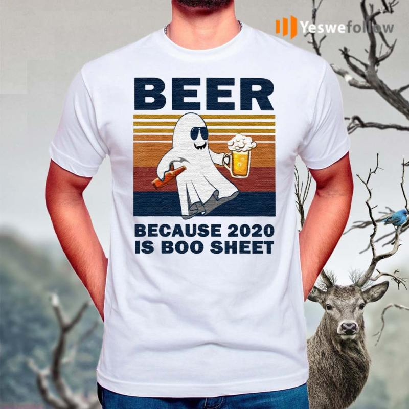 Vintage-Beer-Because-2020-Is-Boo-Sheet-Ghost-Dr-Classic-T-Shirts
